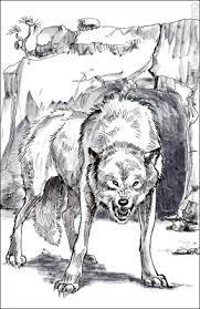 snarling wolf drawing this sketch of an angry snarling wolf will
