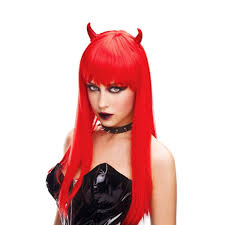 Halloween Costume Devil Woman Ifavor123 Red Horn Devil Woman U0027s Wig Demon Fire Angel