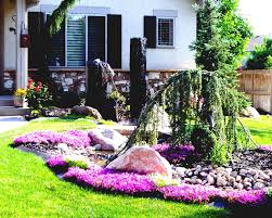Landscape Flower Bed Ideas by Landscape Colourful Flower Garden Ideas Front House With Stone
