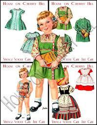16 vintage paper dolls images vintage paper