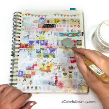 using washi tape in my art journal carolyn dube
