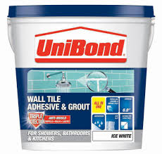 unibond ready to use wall tile adhesive u0026 grout ice white 1 28kg