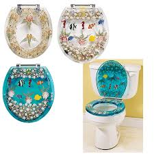 Fish Home Decor Clear Seashell And Fish Toilet Seat Best Selling Gifts Clothing