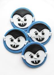 edible halloween cupcake toppers vampires fondant cake