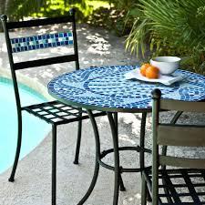 replacement tiles for patio table patio ideas outdoor 3 piece aqua blue mosaic tiles patio furniture