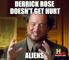 Derrick Rose Jersey Meme - elegant derrick rose jersey meme ancient aliens meme imgflip kayak