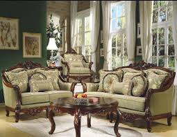 Antique Round Wood Chairs With Cushion Living Room Formal Living Room Decoration Ideas With Brown Wood