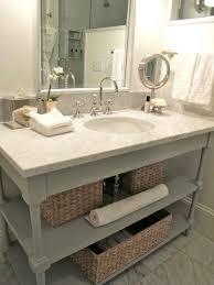 bathroom vanity open shelf ideas for home interior decoration