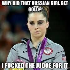 Russian Girl Meme - why did that russian girl get gold i fucked the judge for it