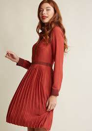 just my typist long sleeve shirt dress in brick modcloth