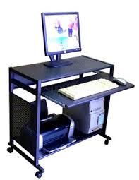 Metal Computer Desk Sts7801 Metal 32 All Metal Computer Desk Black