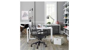 cb2 go cart white rolling desk in new york ny apartment therapy