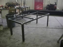 Steel Patio Table For A Deck Table I Could Tile Granite Or Wood Cut To Fit
