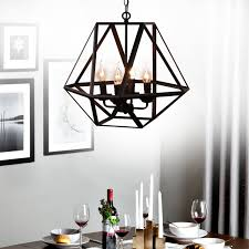Antique Black Chandelier Antique Black Metal Hanging Lantern Candle Chandelier Light With 4