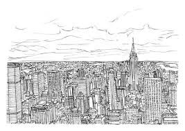 items similar to new york city sketch a4 print on etsy