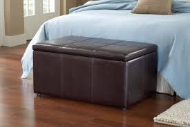 bedroom design catalena faux brown leather bedroom bench storage