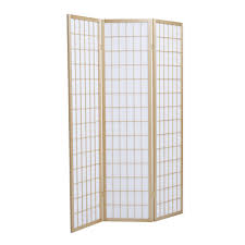 brand new solid timber 3 panel wooden clear varnish colour screen