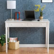 desk for two southern enterprises crisp 2 drawer writing desk in white ho8800