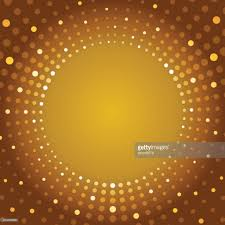 golden brown color background with fading white circles vector art