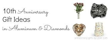 tenth anniversary gifts ten year wedding anniversary guide from tin to diamonds