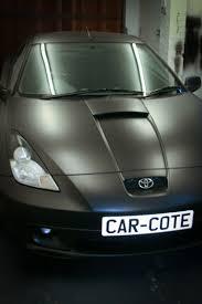 stanced toyota celica toyota celica vvti year 2000 dark anthracite spray wrap car cote
