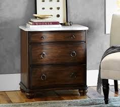 marble top bedside table sansome marble top nightstand pottery barn