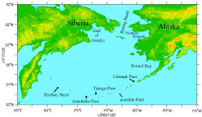 map of aleutian islands aleutians