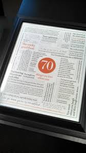 70th anniversary gift 14 best 70th anniversary ideas images on