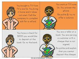 starbucks job interview role play worksheet free esl english
