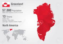 Greenland On World Map by Greenland World Map With A Pixel Diamond Texture World Geography