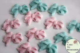 bows for 12 fondant edible bows for gender reveal party cupcake topper a