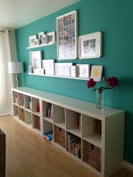 turquoise and yellow bedroom decor white wooden floating bookshelf
