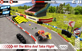 monster truck nitro games monster truck 4x4 stunt racer mod money gudang game android
