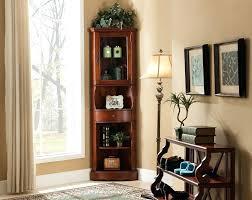 Living Room Corner Decor Corner Decorations Black Wood 5 Tier Freestanding Corner Shelf