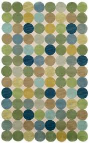 Area Rug Green Amalfi Collection Amalfi Circles Ocean Blue Green Olive White And