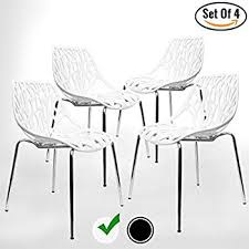 Modern Dining Chairs Modern Dining Chairs Set Of 4 By Urbanmod White