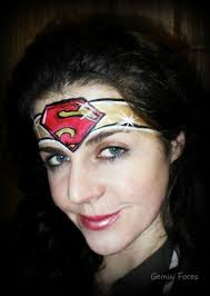 supergirl face painting u2026 pinteres u2026