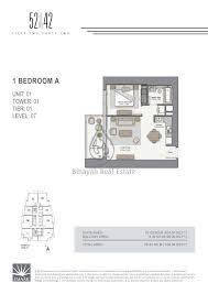 52 42 1 bedroom apartment floor plan 16