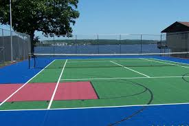 basketball multi sport and tennis court resurfacing flex court