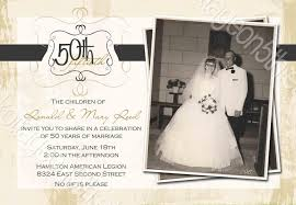 gifts for 50th wedding anniversary golden wedding anniversary invitations 50th wedding anniversary