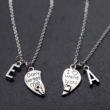 valentines necklace his and necklace boyfriend valentines day