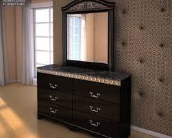 ashley i zone bookcase dresser u0026 mirror 3d model hum3d