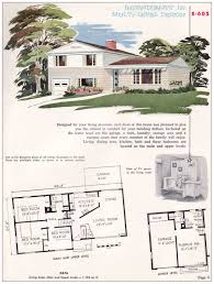 house plans 1950s split level home designs adobe home plans