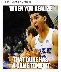 Duke Basketball Memes - when allen and kennard hit threes to come back and win duke stuff