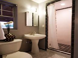 Bathroom Feature Wall Ideas by Bathroom Window Treatments Home Decorating Gray Wall Painted In