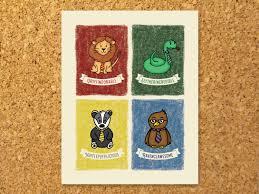 harry potter decor hogwarts house poster 11x14 gryffindor