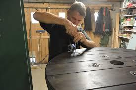 table basse touret bois bobine pour faire une table basse u2013 phaichi com