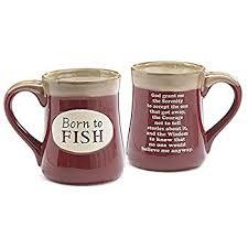 serenity prayer mug born to fish coffee mug with fisherman s serenity