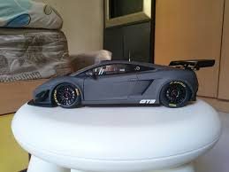 grey lamborghini autoart lamborghini gallardo gt3 fl2 2013 dark grey