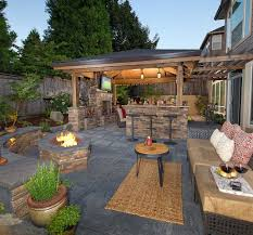 Backyard Vineyard Design by Firepit Bar Island Fireplace Living Room Putting Gree Http